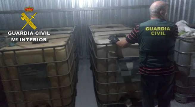 La Guardia Civil detiene a dos personas por robo continuado de hidrocarburo del Oleoducto Puallo( Puertollano-Almodóvar-Loeches)