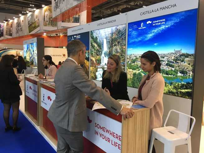 Castilla-La Mancha repite presencia en la 'World Travel Market' de Londres, manteniendo encuentros con 30 turoperadores.