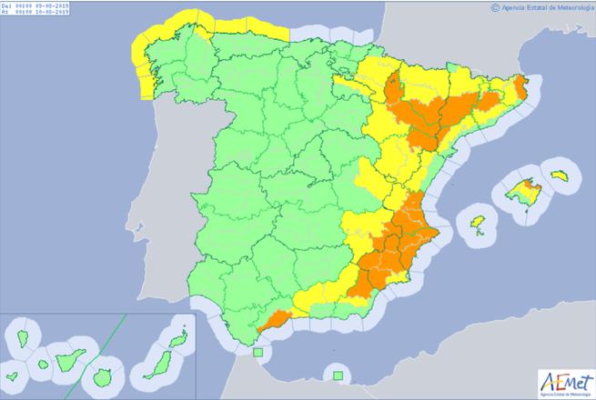 Protección Civil y Emergencias alerta por altas temperaturas en el este peninsular y Baleares