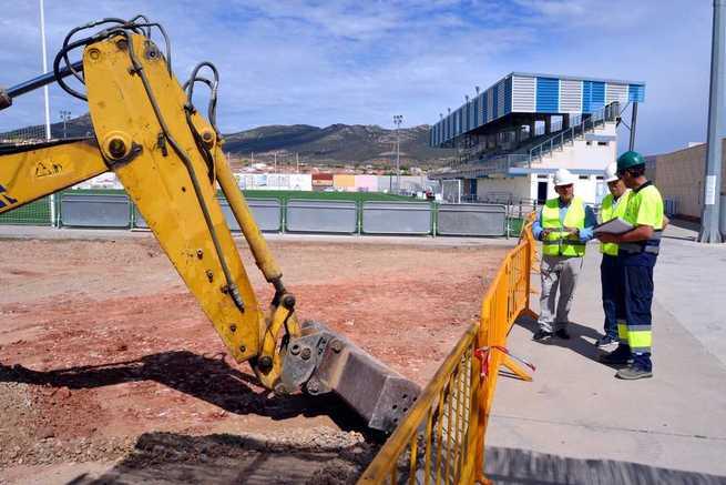 El Ayuntamiento de Villarrubia de los Ojos pone a punto el Campo de Fútbol para adecuarlo a la normativa de 2ª División B