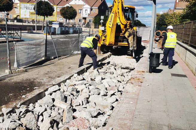 Comienza la construcción de un nuevo tramo de colector en el barrio de Vallehermoso de Azuqueca de Henares