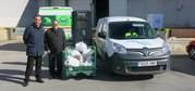 La empresa Aguas de Puertollano entrega casi 100 Kilos de comida al Banco de Alimentos