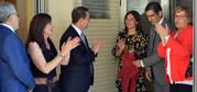Emiliano García-Page y Pilar Zamora inauguran  las nuevas instalaciones del CEIP Alarcos de Valverde