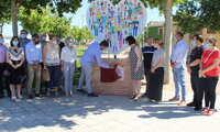 Alcázar agradece la labor de los sanitarios en pandemia con un monumento frente al Hospital Mancha Centro