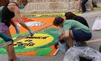 Almonacid de Zorita forma parte de la iniciativa de alfombra mundial jacobea en el día de Santiago