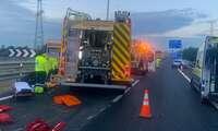 Siete vehículos implicados en la colisión con otro vehículo que circulaba en sentido contrario por la A-42 a su paso por Yuncler (Toledo)