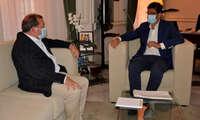 Adolfo Muñiz inicia su actividad institucional como alcalde de Puertollano en una reunión con el presidente de la Diputación