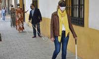El Ayuntamiento de Ciudad Real y ONCE sensibilizan sobre la discapacidad visual en la movilidad de la ciudad