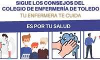 """El Colegio de Enfermería de Toledo pone en marcha una nueva campaña de información enfermera """"Tu enfermera te cuida: sigue sus consejos"""""""