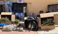 """La Policía Nacional desmantela una plantación """"indoor"""" de marihuana en Alcázar de San Juan"""