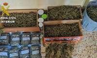 La Guardia Civil incauta 32 kilos de marihuana y desmantela su punto de elaboración en Illescas