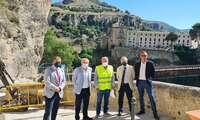 El Colegio de Ingenieros de Caminos se interesa por el desarrollo de las obras de la calle Canónigos de Cuenca