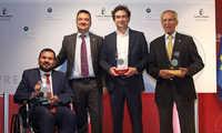 """Bahamontes, Pepe Rodríguez y Juan Ramón Amores, premios 'Columela' de la Dieta Mediterréanea, """"la dieta que une el medio urbano con el rural"""""""