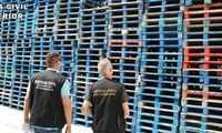 Investigadas cinco personas en La Roda por comerciar ilegítimamente con palés valorados en 55.100 euros