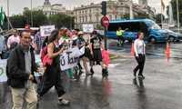 Más de 1.000 personas reclaman en Madrid trenes dignos para Extremadura y C-LM convocados por Milana Bonita
