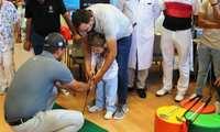 Participantes del Seve Ballesteros PGA Spain Tour visitan a los niños y niñas ingresados en el Hospital de Ciudad Real