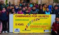 500 escolares de Valdepeñas se suman a la marcha contra la obesidad infantil