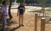 Finalizan las mejoras en el Parque de la Serna de Herencia con la instalación de un circuito biosaludable