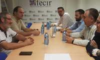 Reunión de FECIR con UGT y CCOO para analizar los convenios colectivos de la provincia de Ciudad Real