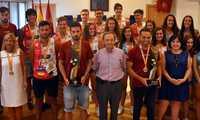 """""""Unidos somos más fuertes"""", recepción a los equipos campeones de España del Balonmano Playa Ciudad Real"""