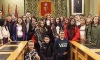 Marta Segarra recibe a alumnos de Toledo que participan en la V edición del programa 'Aula de Patrimonio'