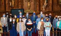Pozuelo de Calatrava recordó a su patrona, la Virgen de los Santos, con una solemne misa en su honor, al no poder celebrar un año más su tradicional romería