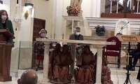 La subdelega del Gobierno en Ciudad Real M. Ángeles Herreros visita las obras de rehabilitación de la Iglesia del Santo Cristo de la Misericordia en Valdepeñas