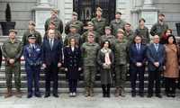 La alcaldesa de Toledo participa en la visita institucional que la ministra de Defensa ha realizado hoy a la Academia de Infantería