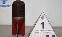 La Policía Nacional desactiva una granada de mortero de la Guerra Civil en Alcázar de San Juan
