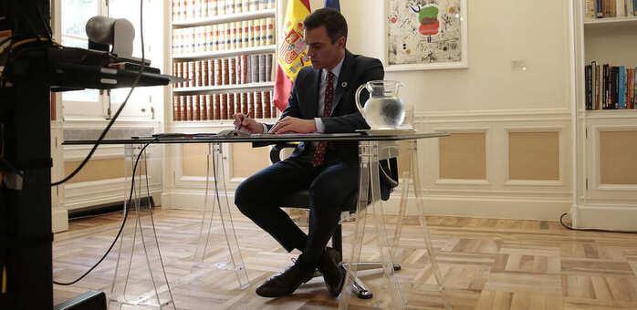 Sánchez anuncia una nueva línea del ICO de 50.000 millones para pymes y autónomos vinculada a la solvencia