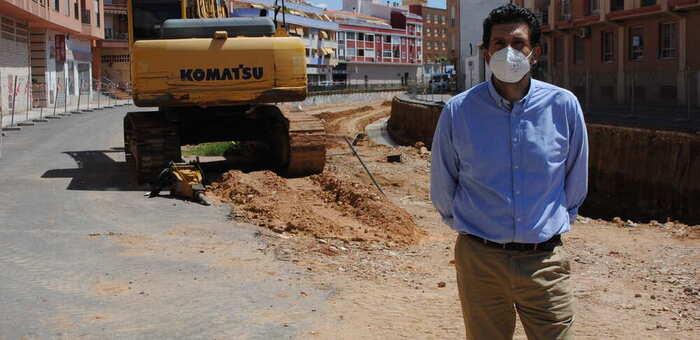 Las obras del cubrimiento del canal de Valdepeñas se prevé que concluyan en el primer trimestre de 2021
