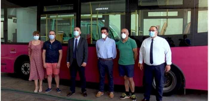 Se reanuda el servicio de autobuses urbanos con todas las medidas de seguridad para pasajeros y trabajadores