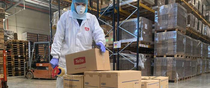 Grupo Tello dona 21.000 unidades de material de protección alServicio de Salud de Castilla-La Mancha