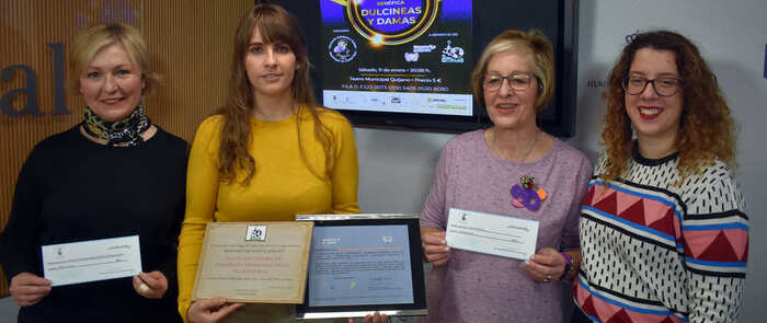 La Asociación de Dulcineas entrega a Guerreros Púrpura y AMHIDA la recaudación de su III Gala