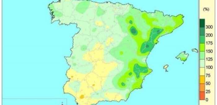 Las lluvias acumuladas desde el 1 de octubre hasta el 26 de mayo superan en un 18% al valor normal para este periodo