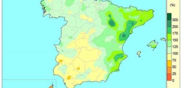 Las lluvias acumuladas desde que comenzó el año hidrológico hasta el 23 de junio superan en un 16% el valor normal