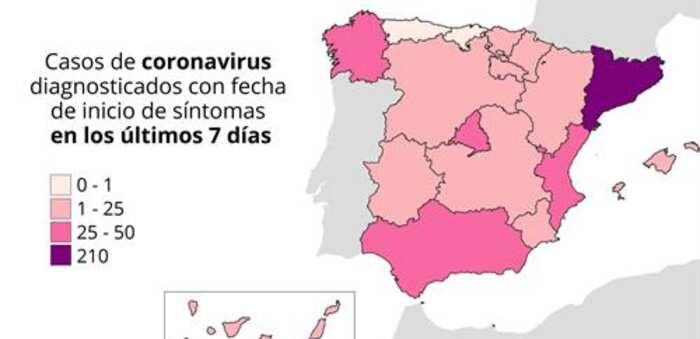 Mapa de los rebrotes: 15 autonomías afectadas y parte de Lleida y Lugo vuelven al confinamiento