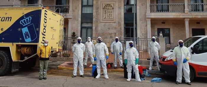 El ayuntamiento de Miguelturra y Geacam se coordinan en la desinfección de las residencias de ancianos