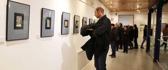 """El pintor alcazareño Ángel Vaquero expone """"77 pinturas de pequeño formato"""" en el Museo Municipal"""