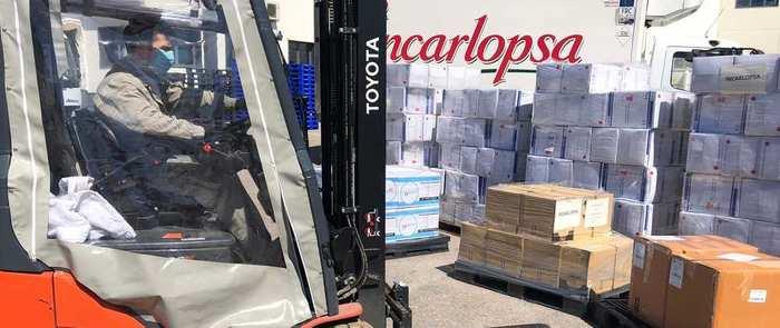 Incarlopsa dona más de 71.000 unidades de material sanitario y de protección en las provincias de Cuenca, Toledo y Ciudad Real