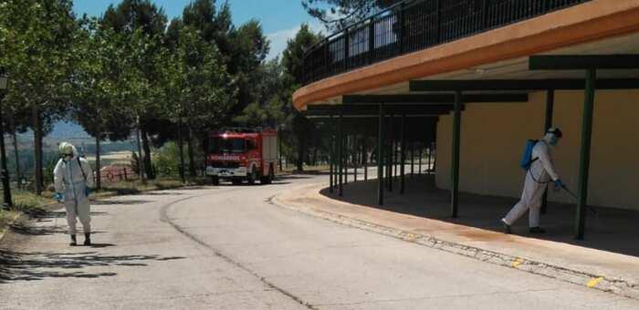 La Diputación de Albacete esta semana ha realizado labores de desinfección y limpieza en 47 localidades tras sus mercadillos municipales