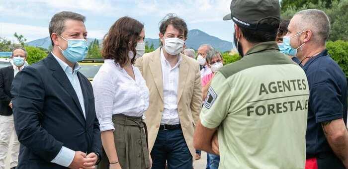 Madrid, Castilla-La Mancha  y Casiulla y León crearán zona de actuación conjunta, de 5 km a cada lado, ante incendios forestales