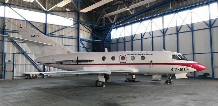 El Ejército del Aire cederá un Falcón-20 al CIFP 'Aguas Nuevas' de Albacete para que alumnado complemente su enseñanza