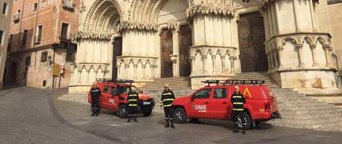 Efectivos del Ministerio de Defensa desplazados hoy en Castilla-La Mancha realizarán cometidos de presencia, reconocimientos y/o desinfecciones en áreas e infraestructuras de numerosas localidades