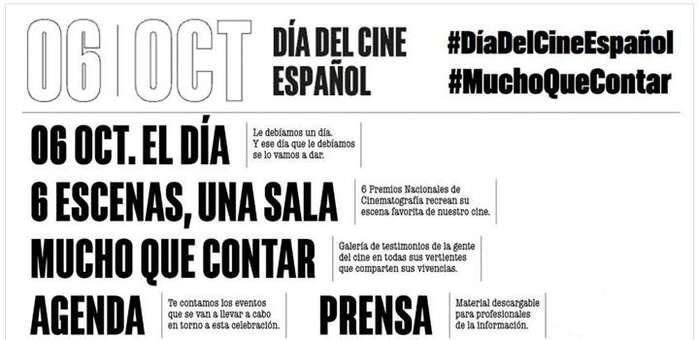 Cultura y Deporte lanza en medios sociales una campaña para celebrar el Día del Cine Español
