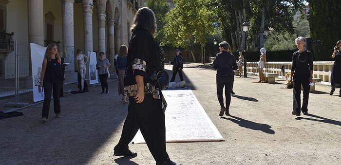 Los Jardines del Infantado de Guadalajara acogen desde hoy 'Mercado canalla', una exposición que denuncia la trata con fines de explotación