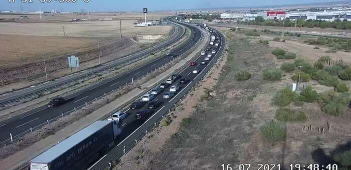 Abierta la A-31 tras quedar cortada por la colisión de tres vehículos a su paso por Albacete en sentido Alicante