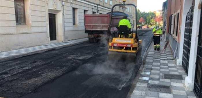 Ya se han renovado en Cuenca 16.400 metros cuadrados de baldosas con el contrato de mantenimiento integral de vías públicas
