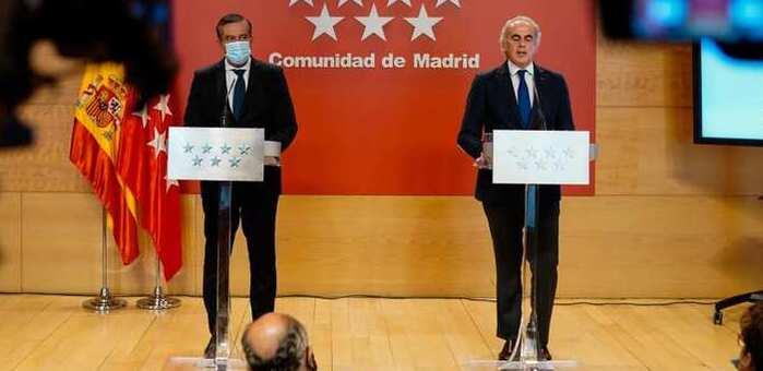 Las medidas de confinamiento para los municipios madrileños entrarán en vigor a las 22 horas de esta noche