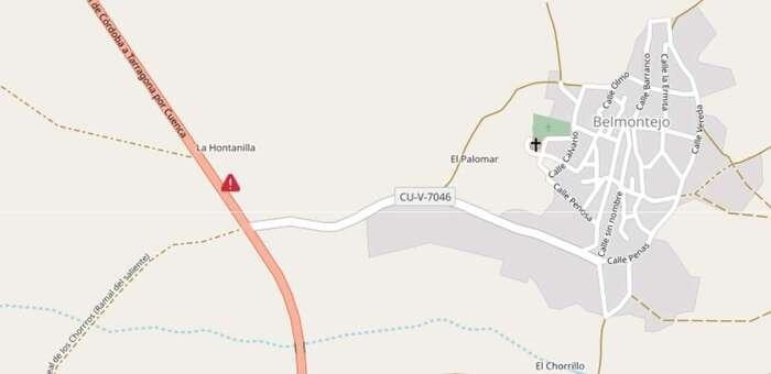 Fellece una persona tras salirse de la vía su vehículo en Belmontejo (Cuenca)